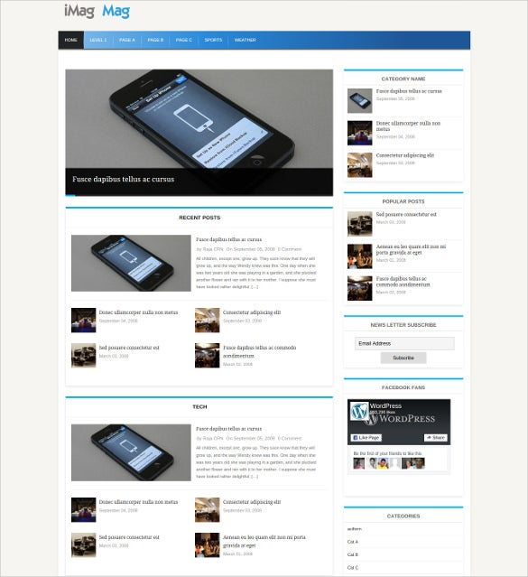 blog newspaper template - Yeni.mescale.co