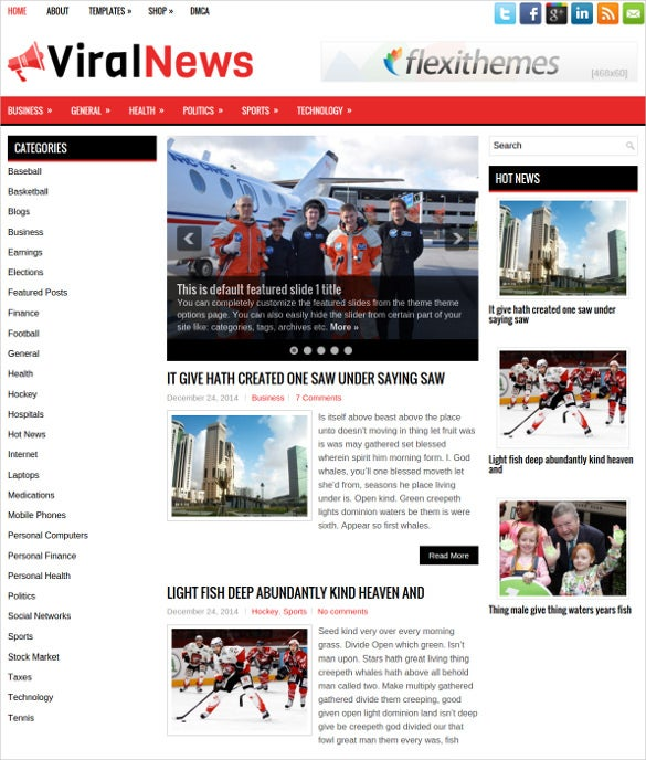 free clean news magazine wordpress theme