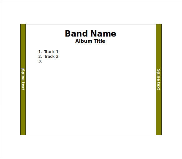 cd jewel case word template free download