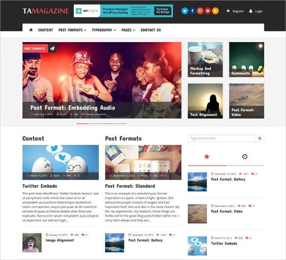 30 news blog themes templates free premium templates