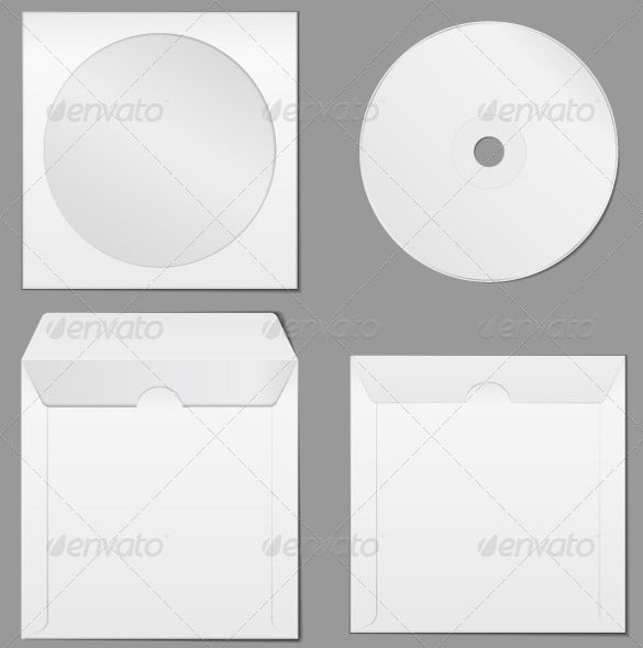 vector eps cd case template download