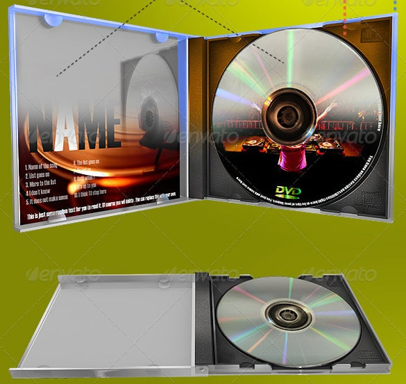 green background cd case psd templete download