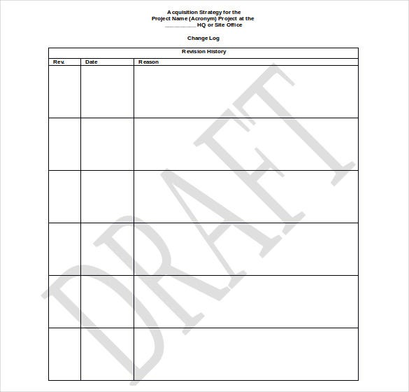 Preparing An Acquisition Strategy Doc Format Free Template