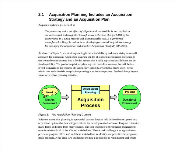 Acquisition Strategy Template   Free Word Pdf Documents