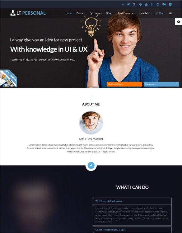 personal sources joomla template