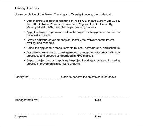 Training Document Template Word Training Template Word