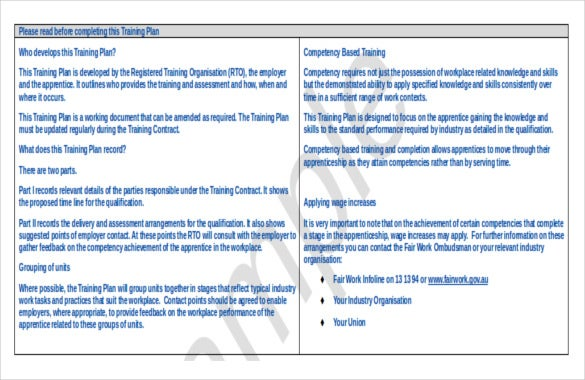 free download strategic training doc format template