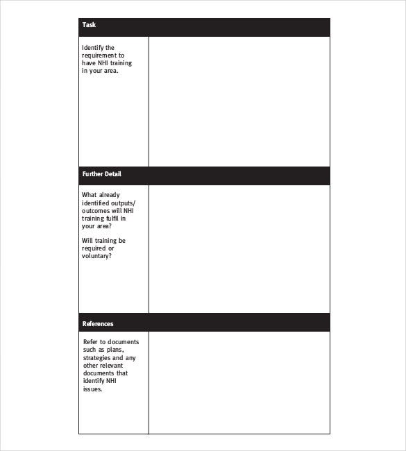 pdf format training action plan template