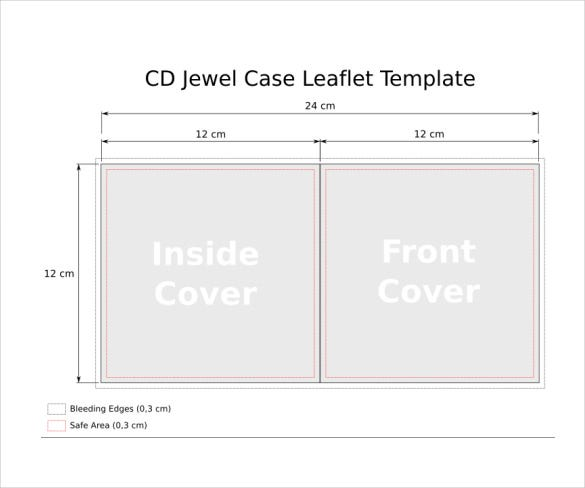cd slim jewel case pdf template free download