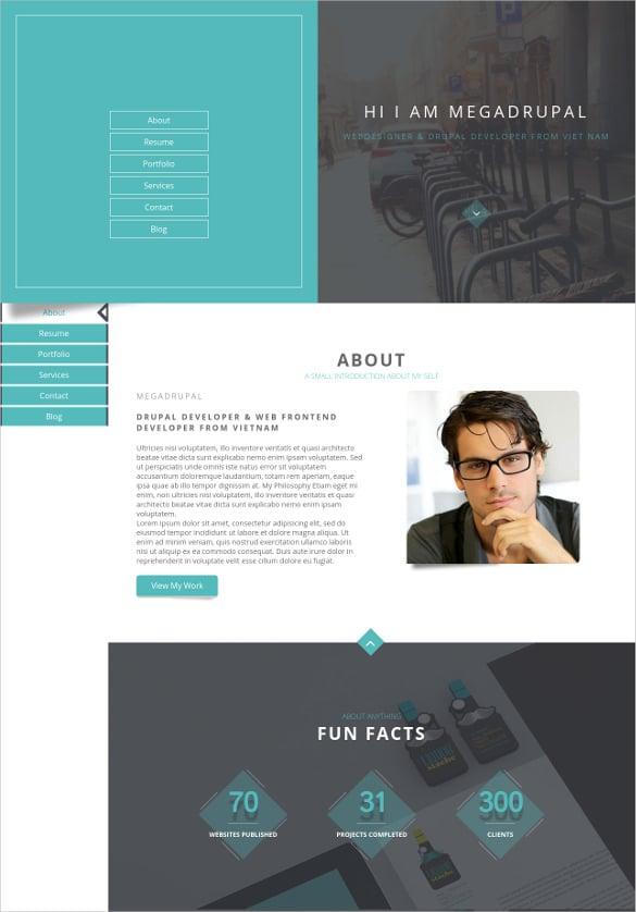 personal portfolio resume drupal theme
