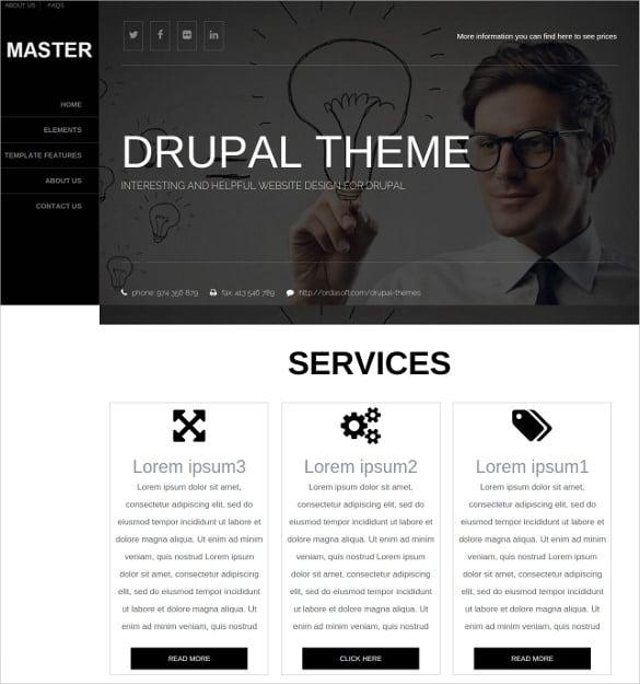 personal drupal responsive theme