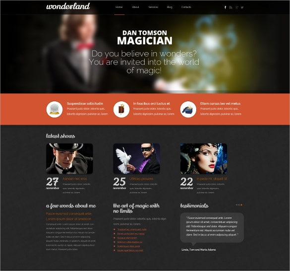 responsive personal page drupal template