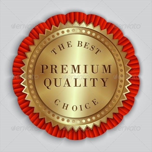 round golden badge label with text of sample example template download