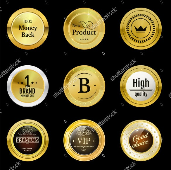 sample example collection gold labels for promo seals
