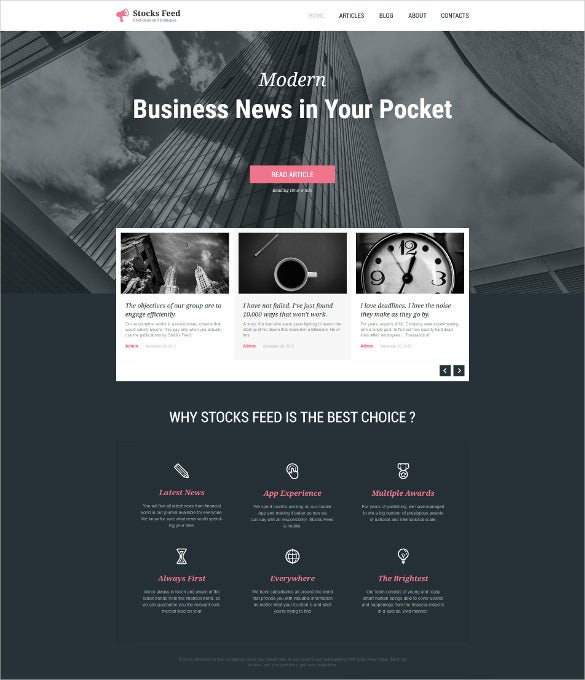 business responsive wordpress bootstrap blog theme