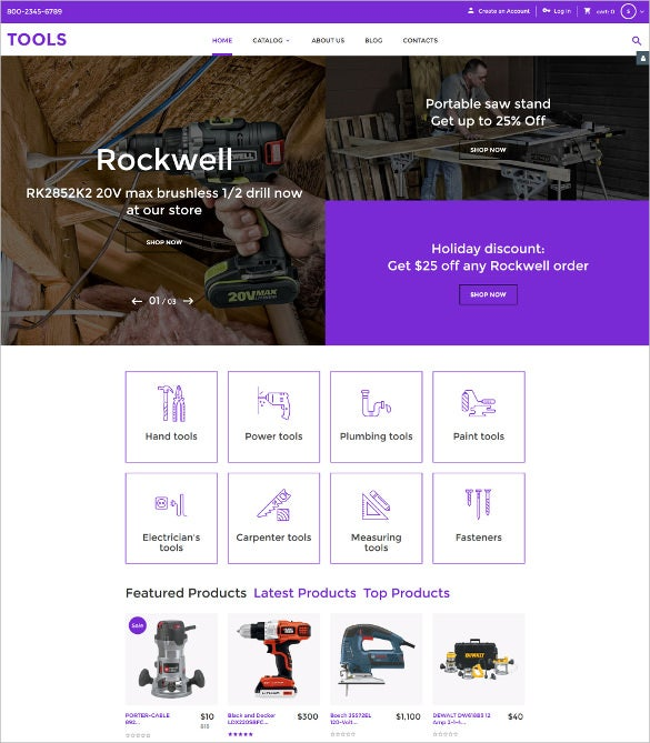 Tools Virtuemart Bootstrap Blog Template