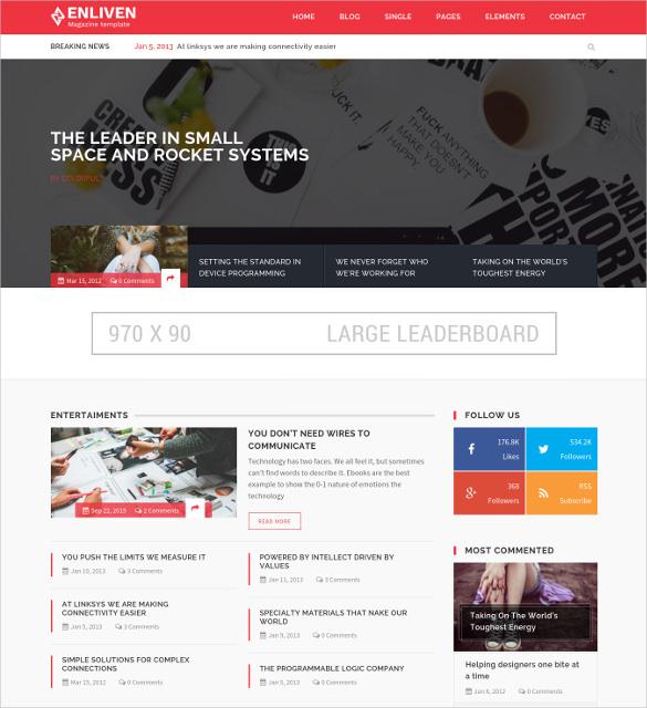 Modern Blog Css Templates Crest - Resume Ideas - namanasa.com