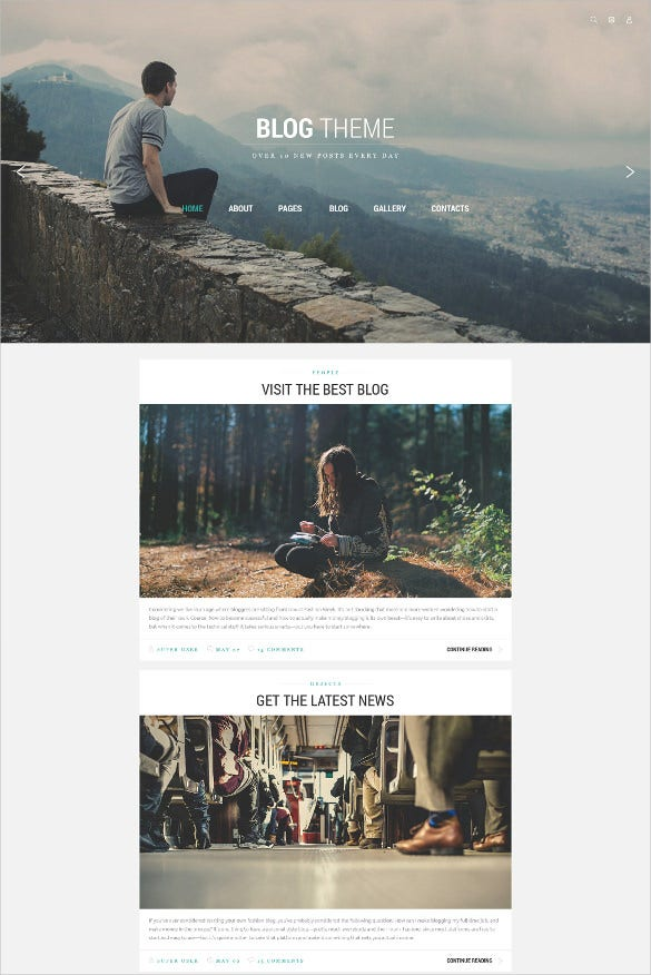 personal blog joomla template1