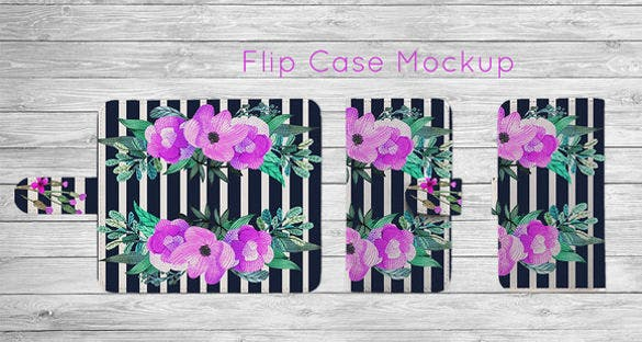phone flip case psd template download