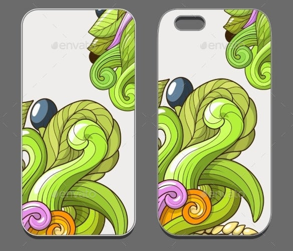 vector eps smartphone case template