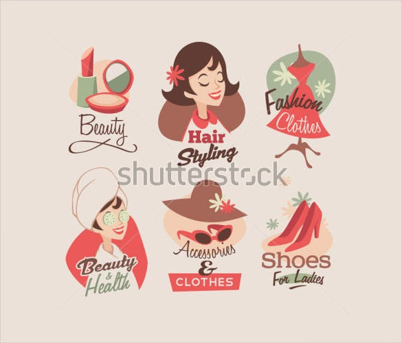 retro emblem label for fashion example template