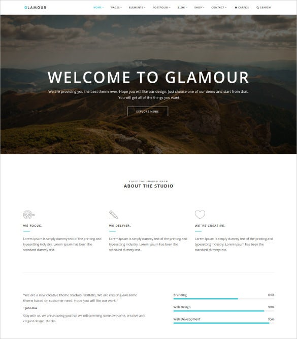 multipurpose onepage multipage bootstrap blog template