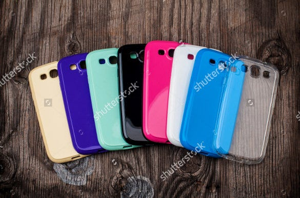 colourful mobile phone case template