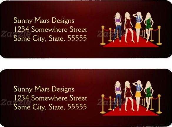 sample label for fashion girls red carpet