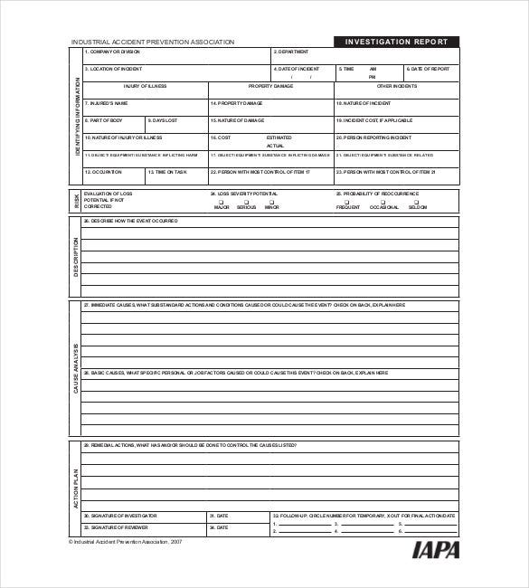 21 investigation report templates pdf doc free for Private investigator surveillance report template