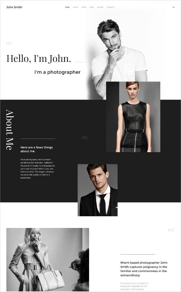 personal portfolio joomla blog template