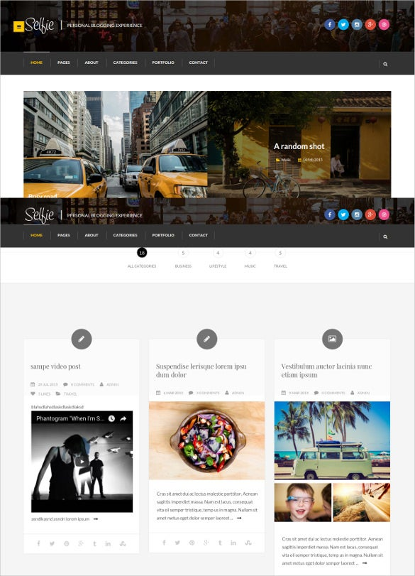 premium personal blog theme
