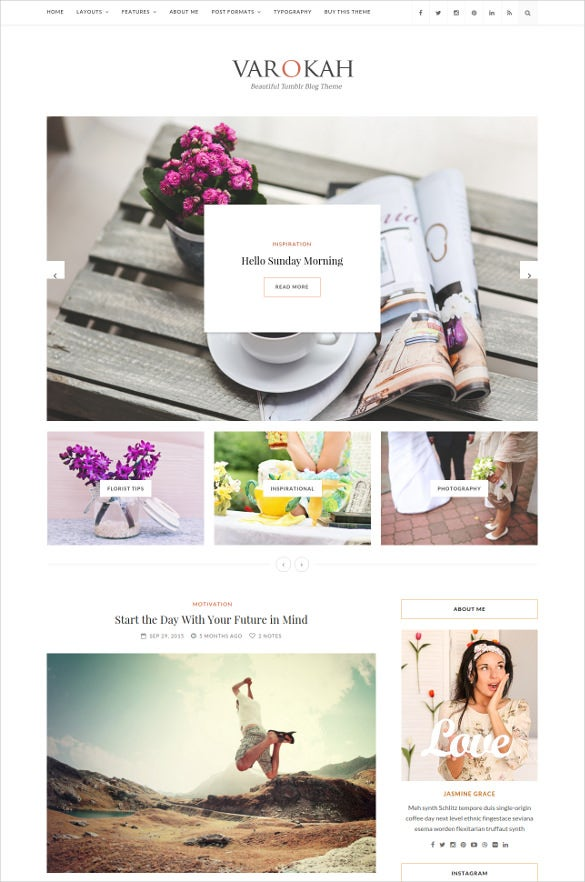 personal tumblr blog theme