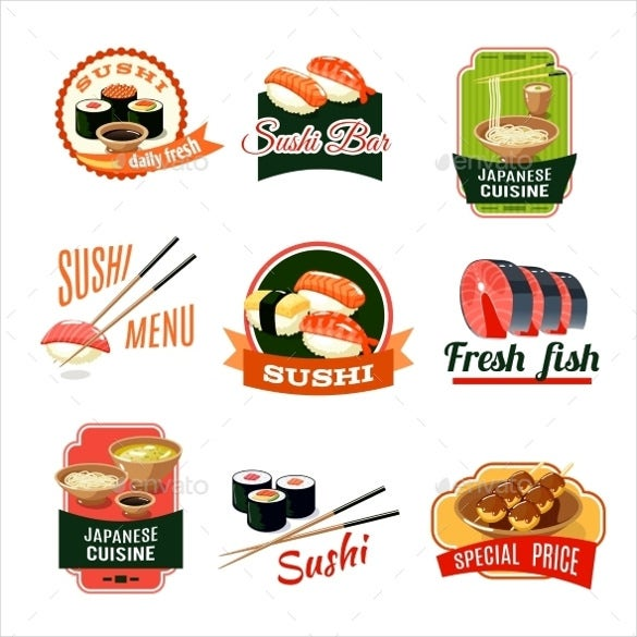 sample asian food labels template download