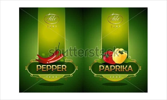 sample vector food label