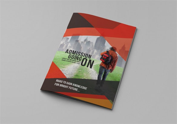 school education bi fold brochure ai format download