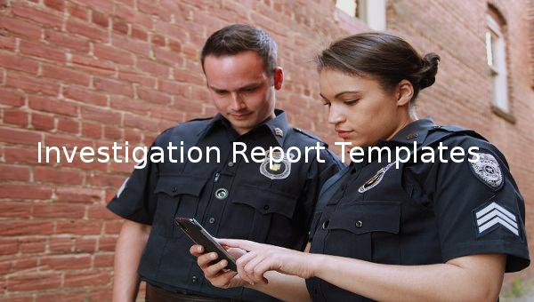 investigation report templates