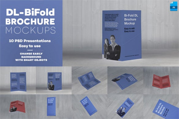 Printable BiFold Brochure Template 67 Free Word PSD PDF EPS – Folded Brochure