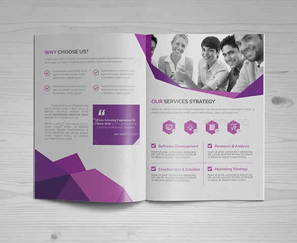 abstract bi fold brochure template eps format