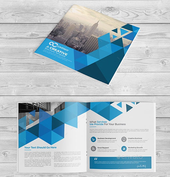 Printable BiFold Brochure Templates Free Word PSD PDF - Two fold brochure template free