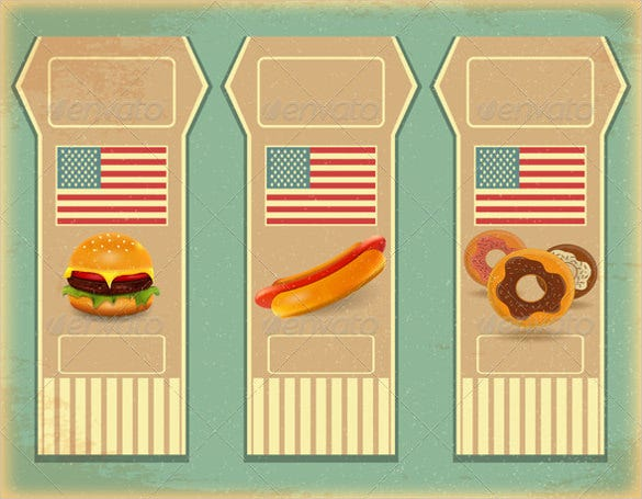 retro fast food labels sample template
