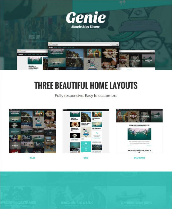 simple personal blog theme