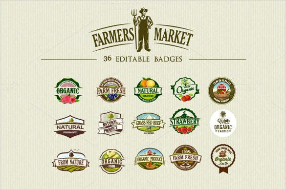 sample example format organic food labels and badges