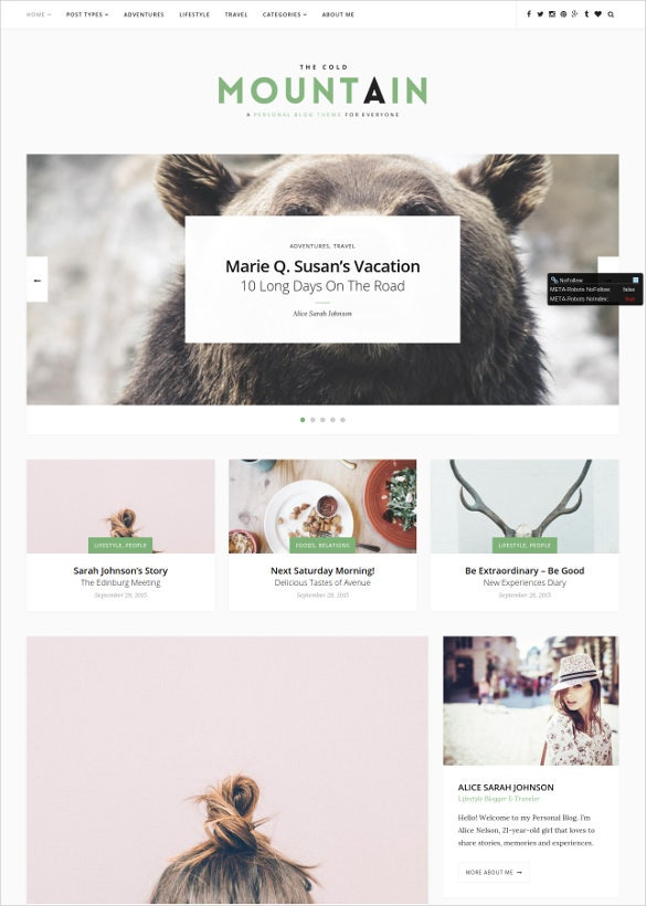 personal lifestyle blog theme