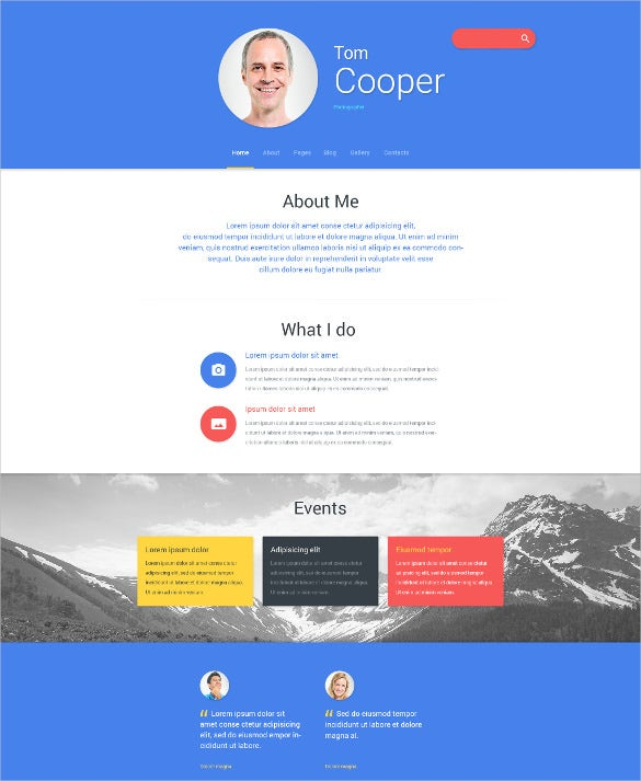 personal profile joomla blog template