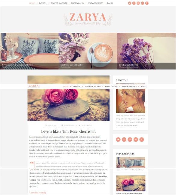 personal wordpress blog theme1