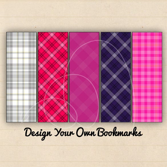 2x6 inch bookmarks blank template download