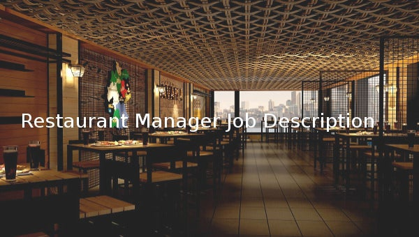restaurantmanagerjobdescriptiontemplate