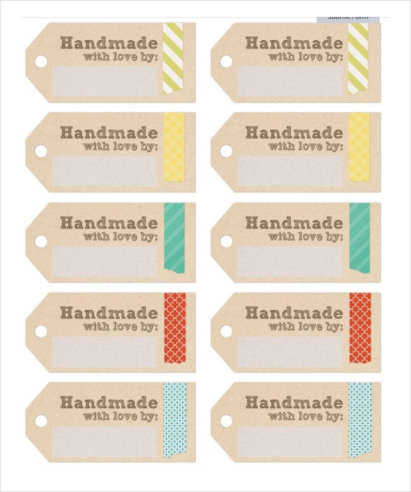 Captivating Example Handmade Free Label Template Download Inside Free Label Templates Download
