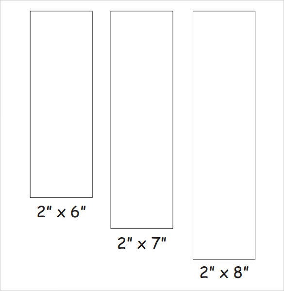 Blank Bookmark Templates Tim s Printables