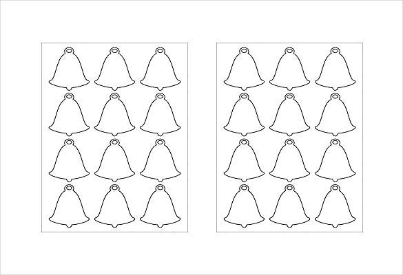 bells shape free label template download